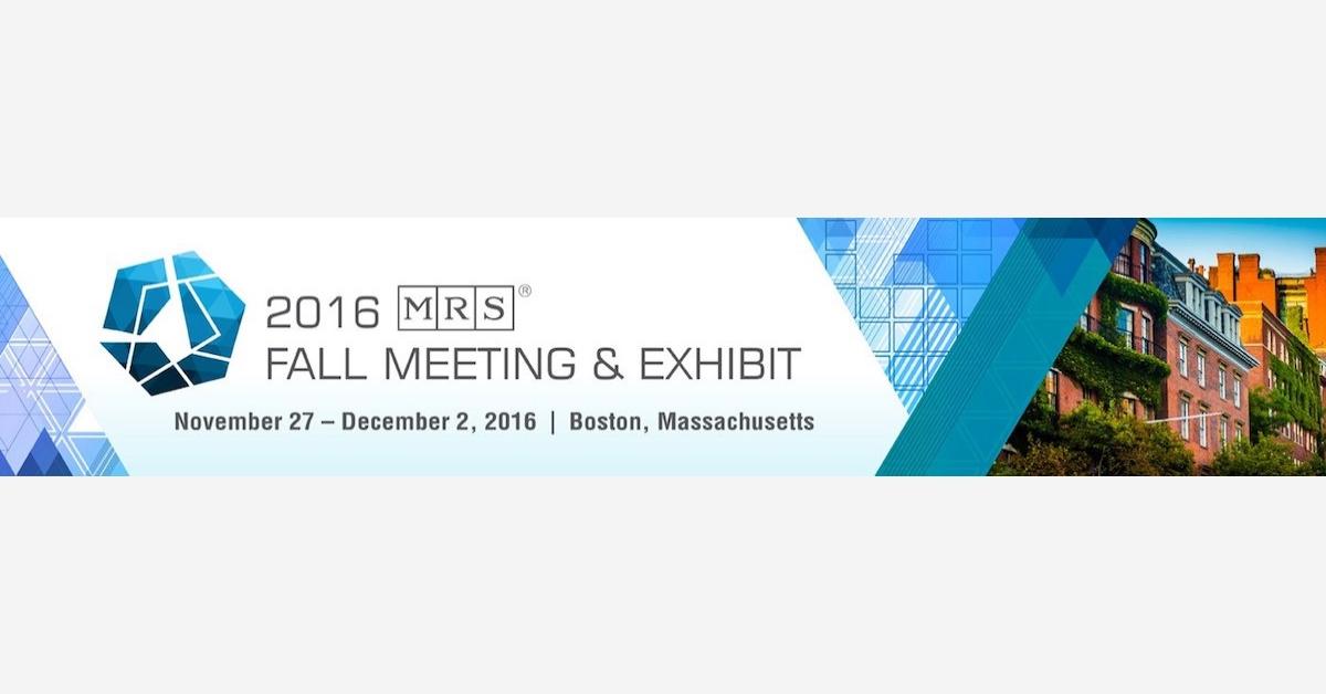 2016 MRS Fall Meeting & Exhibit in Boston