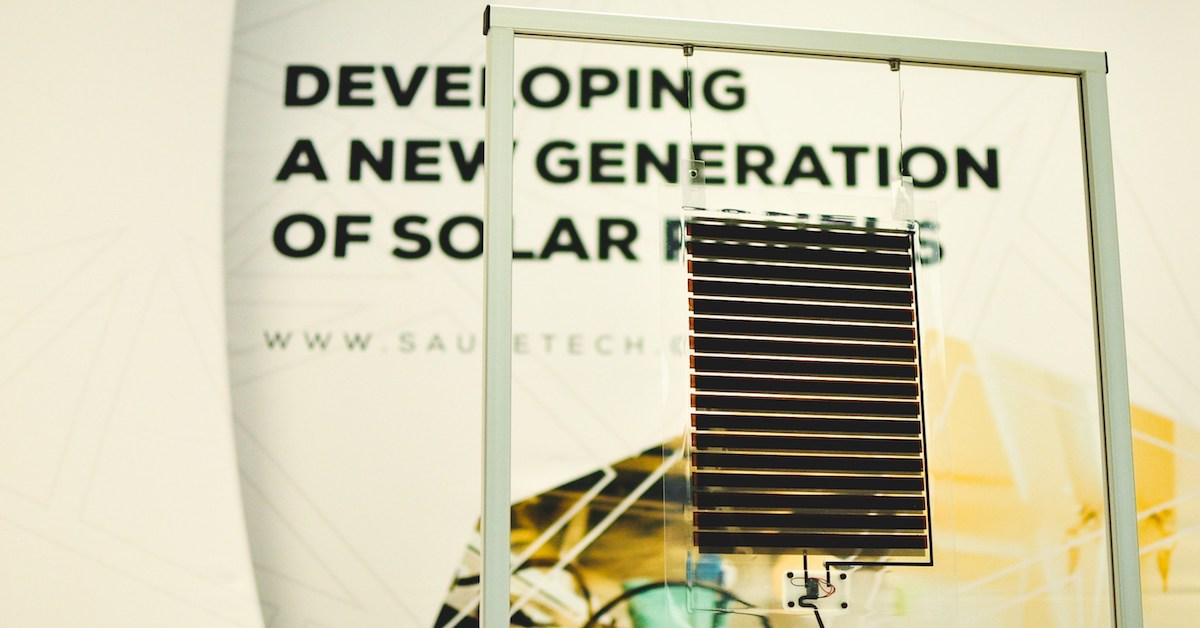 A4 Saule Technologies solar module presented at IDTechEx Show in Santa Clara