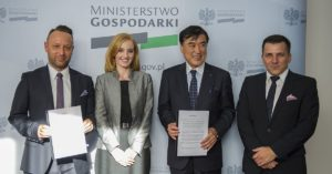 Piotr Krych, Olga Malinkiewicz, Hideo Sawada and Artur Kupczunas