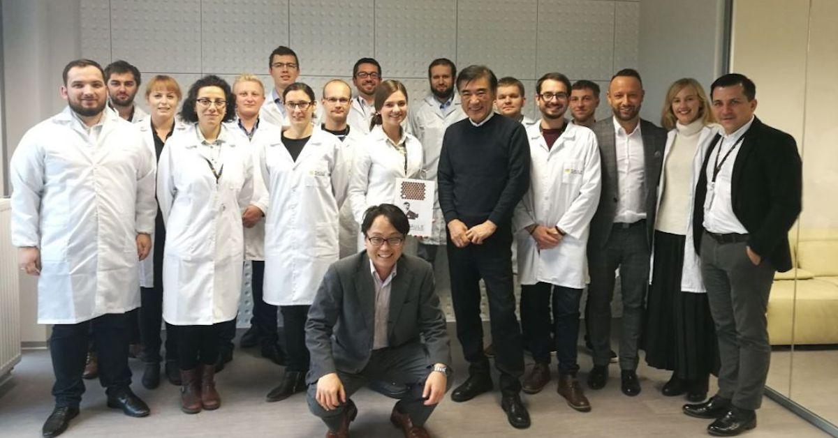 Hideo Sawada visits Saule Technologies