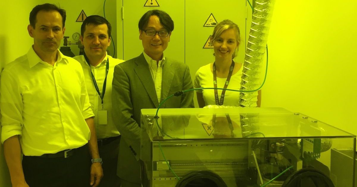 Japanese investor visits Saule Technologies' laboratory in Wrocław