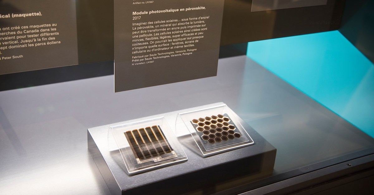 Saule perovskite solar modules in Canada's Museum of Science and Innovation in Ottawa
