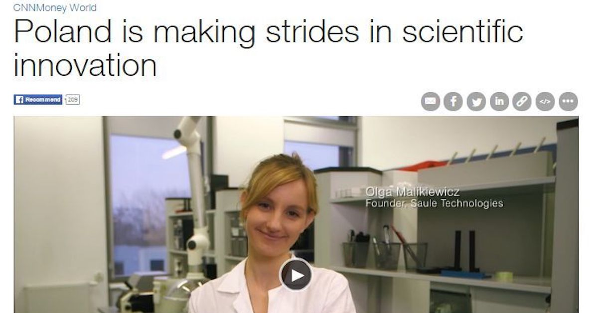 Polish innovations are changing the world - Saule Technologies featured by CNN