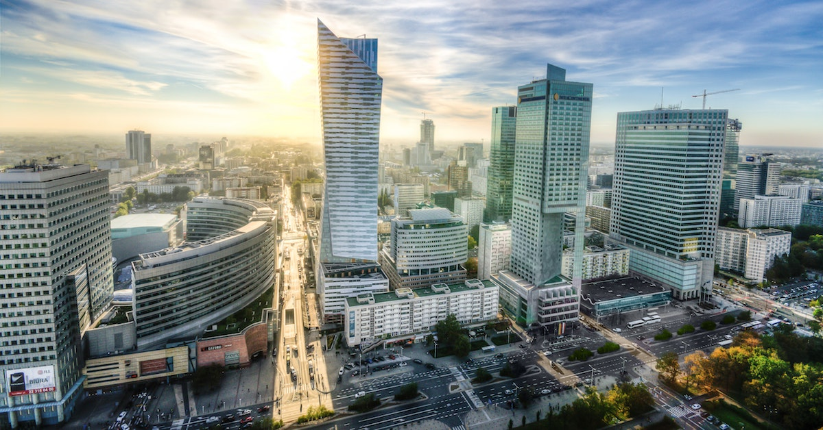 A view of sunny Warsaw