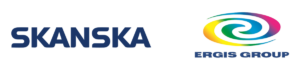 Skanska and Ergis Group logos