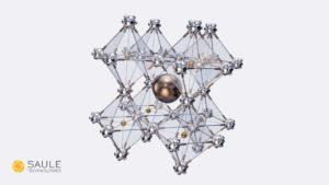 Perovskite crystal (with logo)