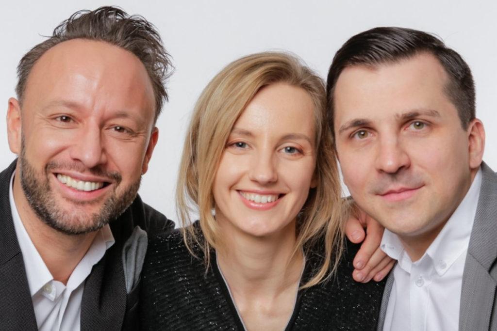 The Founders of Saule Technologies: Piotr Krych, Olga Malinkiewicz, Artur Kupczunas