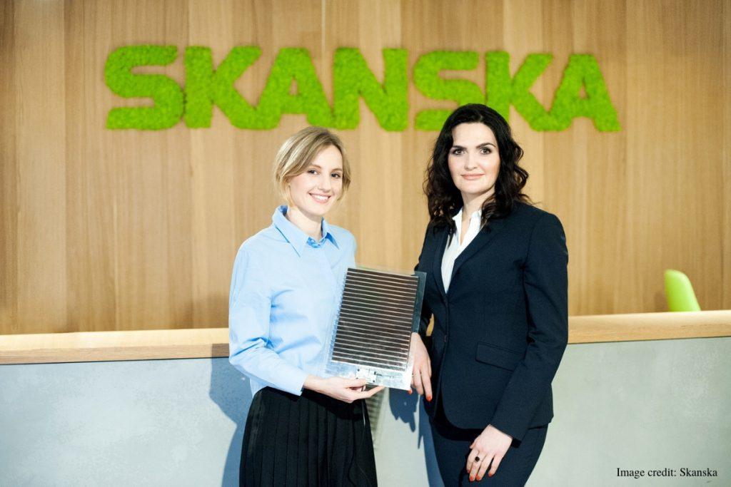 Olga Malinkiewicz from Saule Technologies and Katarzyna Zawodna from Skanska