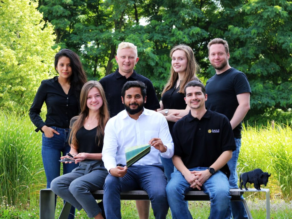 Saule Technologies team photo in relation to Bison project.