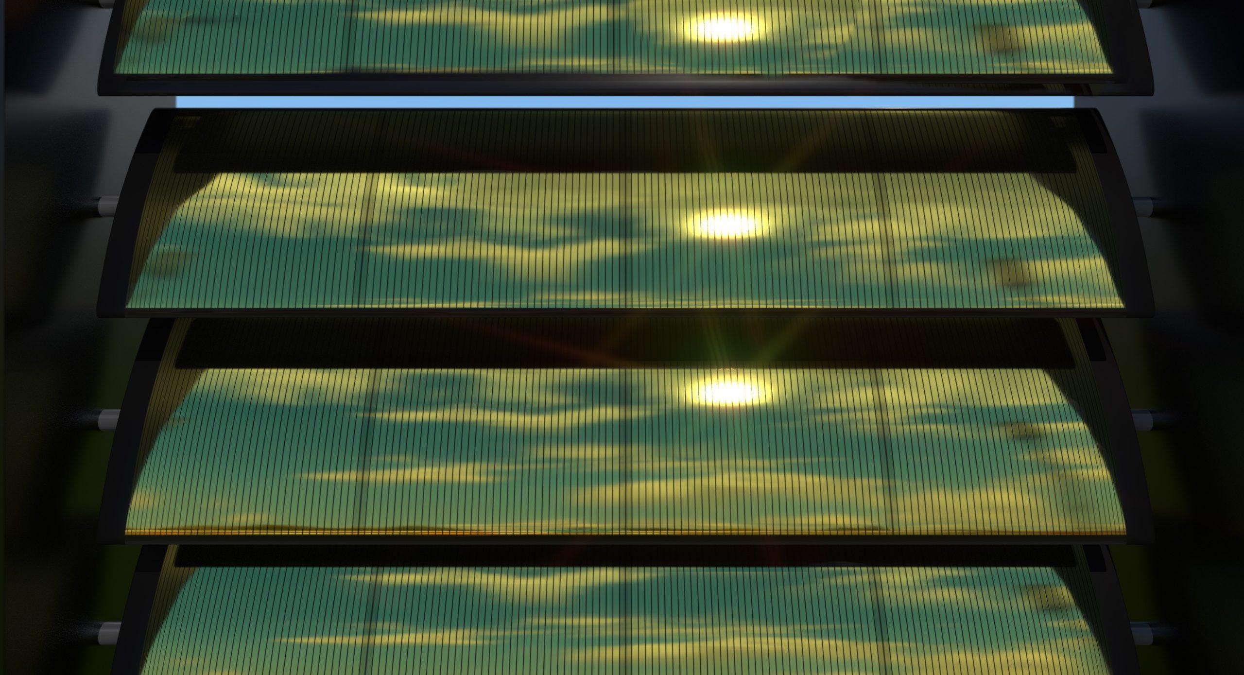 Visuals of solar sunblinds
